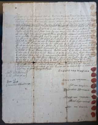 Dutch New York: Deed from the van Wagenen family, conveying land from Evert van Wagenen & others...