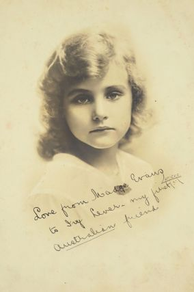Album of portrait photographs of early Hollywood Silent movie stars, including signed Charlie...