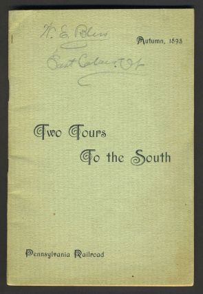 Pennsylvania Railroad Tours to the South. Travel brochure