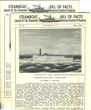 Journal of the Steamboat Historical Society of America. 2 issues, June & Sept. 1950