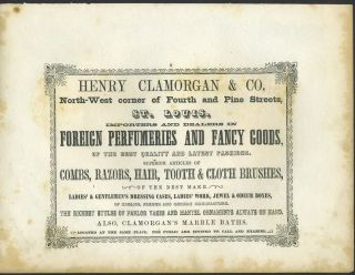 Foreign Perfumery and Fancy Goods, Henry Clamorgan & Co., St. Louis. Trade handbill