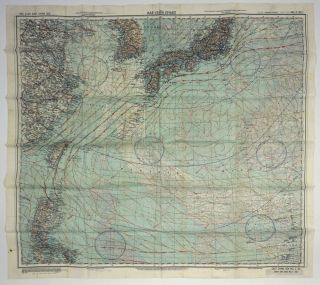 "US Army Air Force cloth map, No. C-52, Japan and South China; No. C-53, East China Sea, ""AAF..."