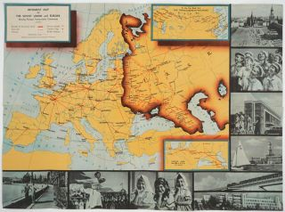 Intourist Map of the Soviet Union. Tourist Map, Soviet Union