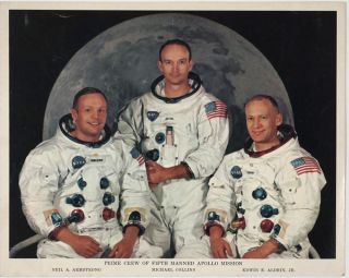 Apollo 11 Photographs of Journey to the Moon and Return, with Neil Armstrong's signature, July 16 to July 24, 1969.