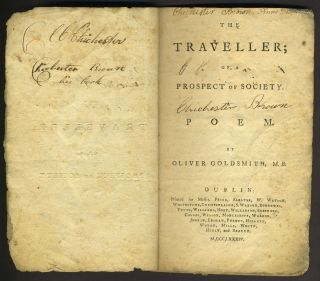 The Traveller; or a Prospect of Society a Poem.