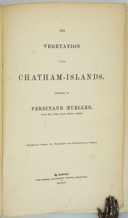 The Vegetation of the Chatham-Islands. Sketched by Ferdinand Mueller.