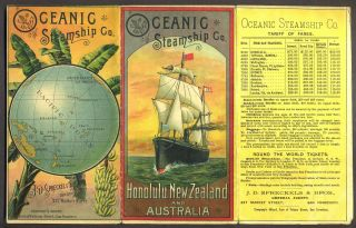 Oceanic Steamship Company, 1889 Promotional Brochure