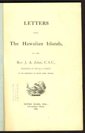 Letters from the Hawaiian Islands.