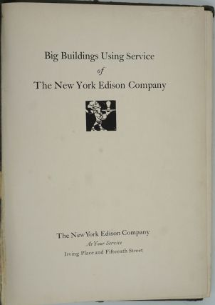 Big Buildings Using Service of The New York Edison Company.