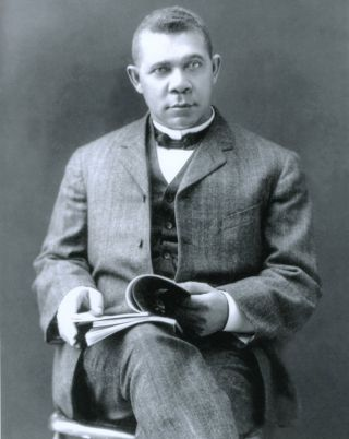 Autograph of Booker T. Washington, with photo. Booker T. Washington