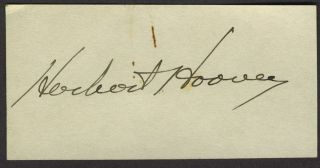 Herbert Hoover autograph and photograph.