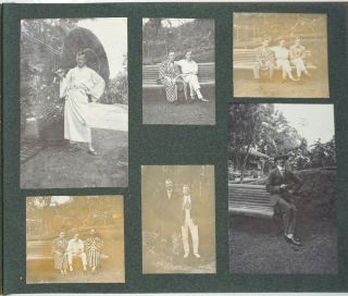Photo album of a British Businessman's life in Ceylon, Hong Kong with two Japanese Ama divers photographs.
