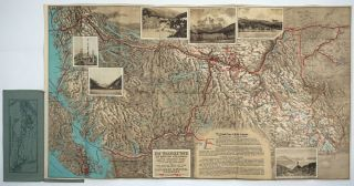 Map of Alaska and the Yukon. Canadian Rockies and the Triangle Tour of British Columbia.