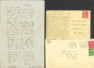 An archive of Leonard Baskin correspondence, collected by his W.W.I.I buddy and family friend.