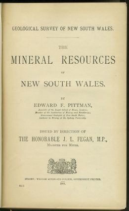 Mineral Resources of New South Wales.