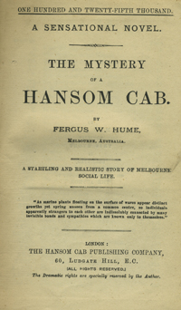 The Mystery of a Hansom Cab. Fergus W. Hume