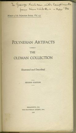 Polynesian Artifacts: The Oldman Collection Illustrated and Described. Oldman