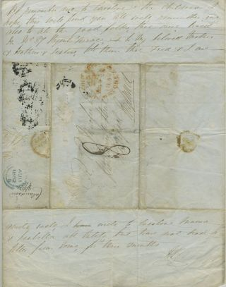 Autograph letter from Mr. H. Easton, Billa Billa, near Callandoon to Robert Andrew Macfie, discussing Darling Downs gold discoveries and importance of the aboriginal work force.