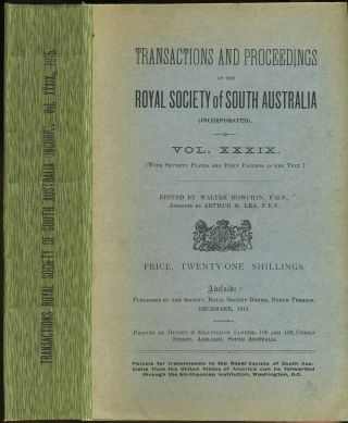Scientific Notes on an Expedition into the North-western Regions of South Australia. Capt. S. A....