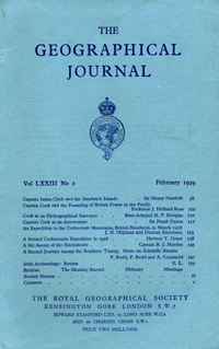 Capt. J. Cook & the Sandwich Islands in The Journal of the Royal Geographical Society, Monthly...