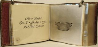 Photograph album of an Important Silver Collection.