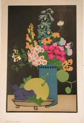 Flowers and Fruit (woodcut).