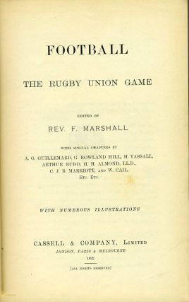 Football. The Rugby Union Game.