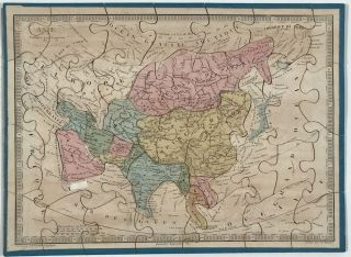 """Map Puzzles for Children """"Atlas Geographique"""" including North America showing Texas as an independent state."""