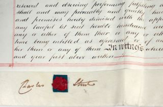 Collection of Vellum Indentures signed by Capt. Charles Sturt.
