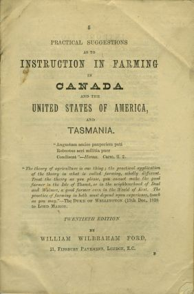 Practical Suggestions as to Instruction in Farming in Canada and the United States of America,...