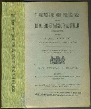 Scientific Notes on an Expedition into the North-western Regions of South Australia (in the...