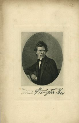 """ALS & engraved portrait of the """"Father of the Australian Commonwealth"""", Henry Parkes."""