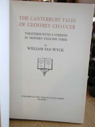 Canterbury Tales of Geoffrey Chaucer.