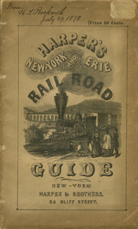 Harper's New York and Erie Rail Road Guide.