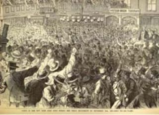 Scene in the New York Gold Room during the Great Excitement of September 24th, 1869 - Gold 160....