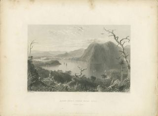 Crow Nest from Bull Hill. (Hudson River). W. H. Bartlett, sc G R. Richardson