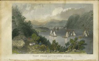 View Near Anthony's Nose. (Hudson Highlands.). W. H. Bartlett, sc H. Adlard