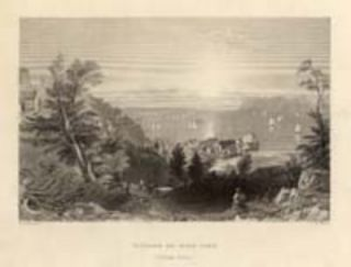 Village of Sing Sing (Hudson River). W. H. Bartlett, sc R. Wallis