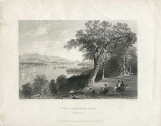 View from Hyde Park. (Hudson River.). W. H. Bartlett, sc G K. Richardson