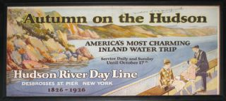 Autumn on the Hudson. America's Most Charming Inland Water Trip. Hudson River Day Line