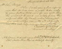 Pine Plains, NY letter in 1830. Samuel to John Hedges of Easthampton Long Island Hunting
