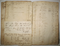 New York import/export Ledger, 1819 - 28. Daggett, Kensett