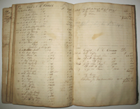 Ledger for a New York import export Merchant, 1819 - 1828.