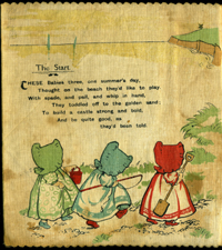 Sunbonnet Babies. No. 78 Dean's Rag Books. Pictures P.S. Bruff Verses, pictured by G. Hall.