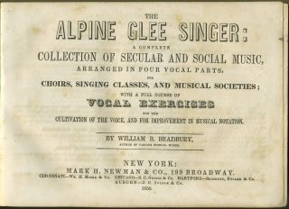 The Alpine Glee Singer: A Complete Collection of Secular and Social Music, Arranged in Four...
