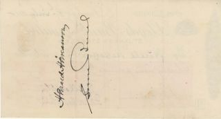 Autograph check from Shackleton fom his Imperial Trans-Antarctic Expedition, signed by Shackleton.
