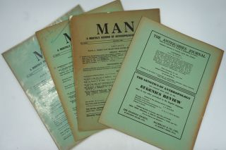 MAN. A Monthly Record of Anthropological Science. 1902-1965, 298 individual issues.